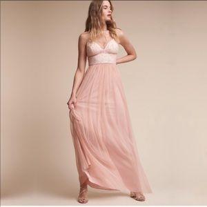 BHLDN Brit dress in blush